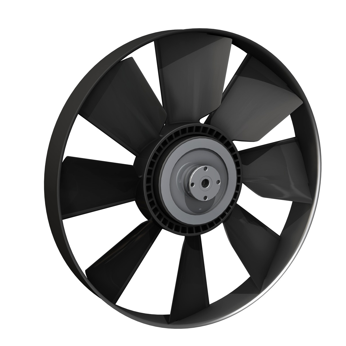 engine cooling fan 3d model 3ds c4d lwo obj 264183