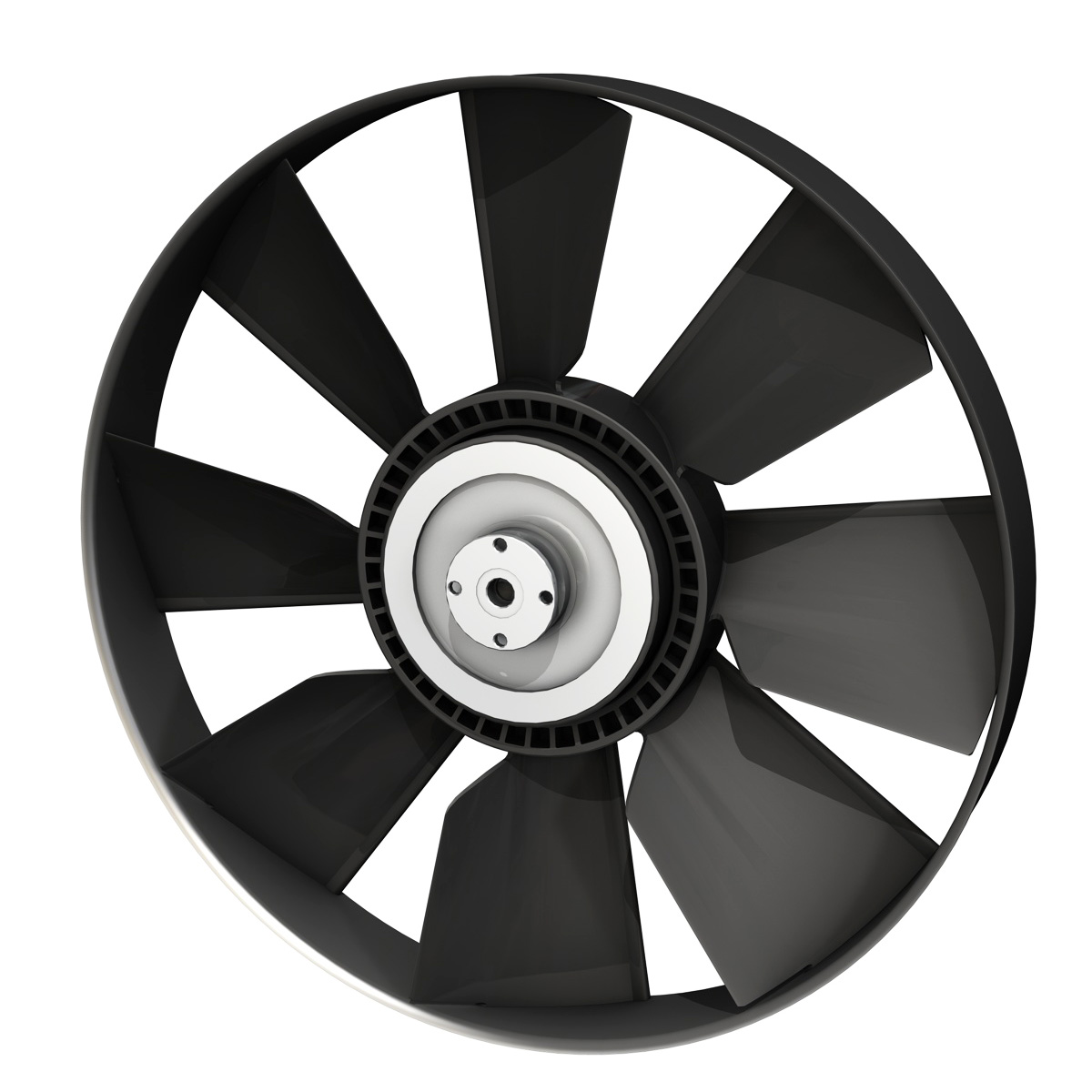 engine cooling fan 3d model 3ds c4d lwo obj 264184