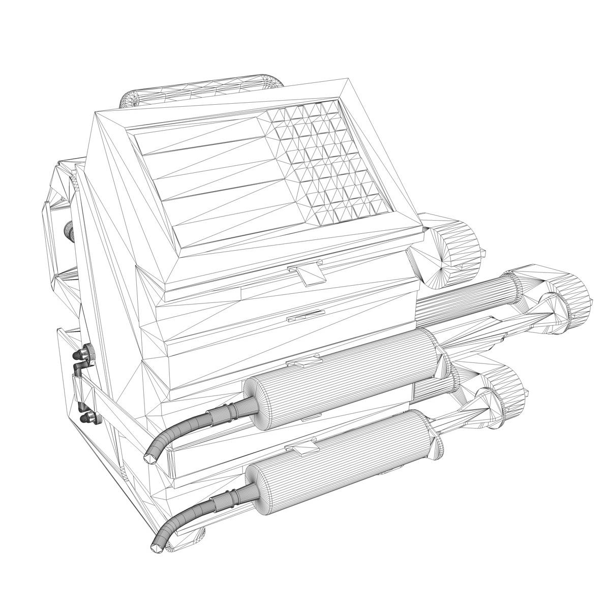 triple channel syringe pump 3d model 3ds c4d lwo obj 264205