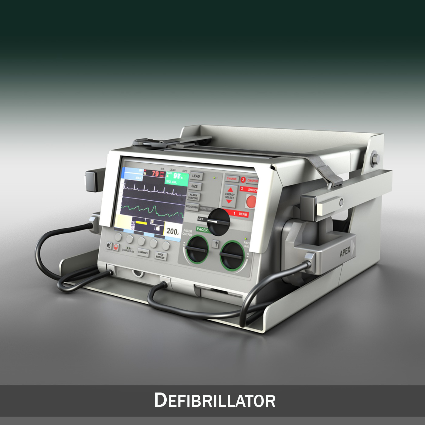 defibrilator 3d model 3ds c4d lwo obj 264206