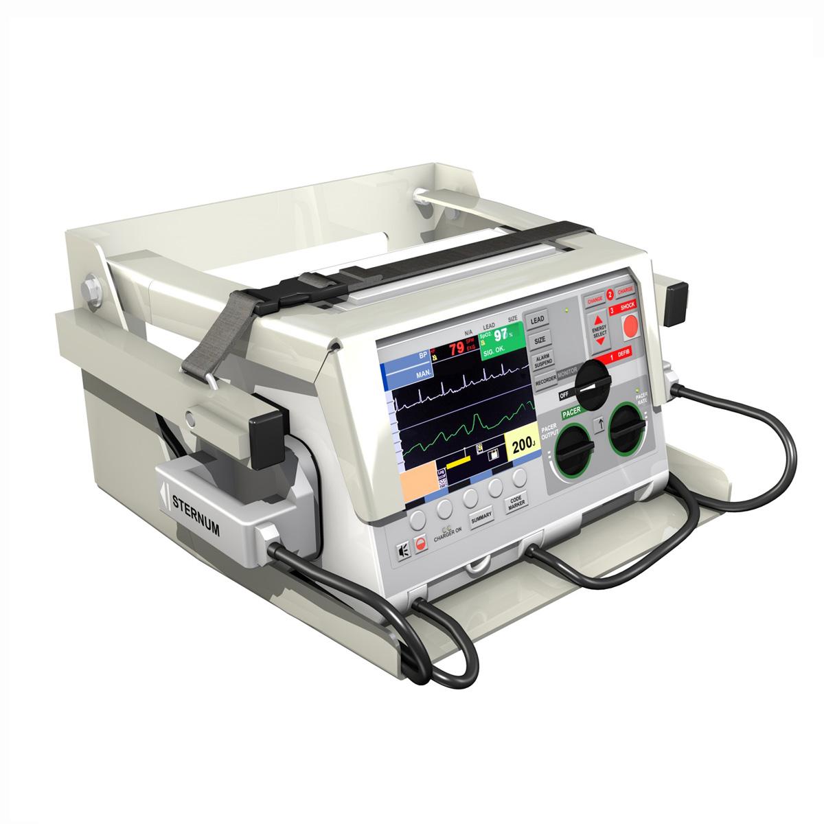 defibrillator 3d model 3ds c4d lwo obj 264207
