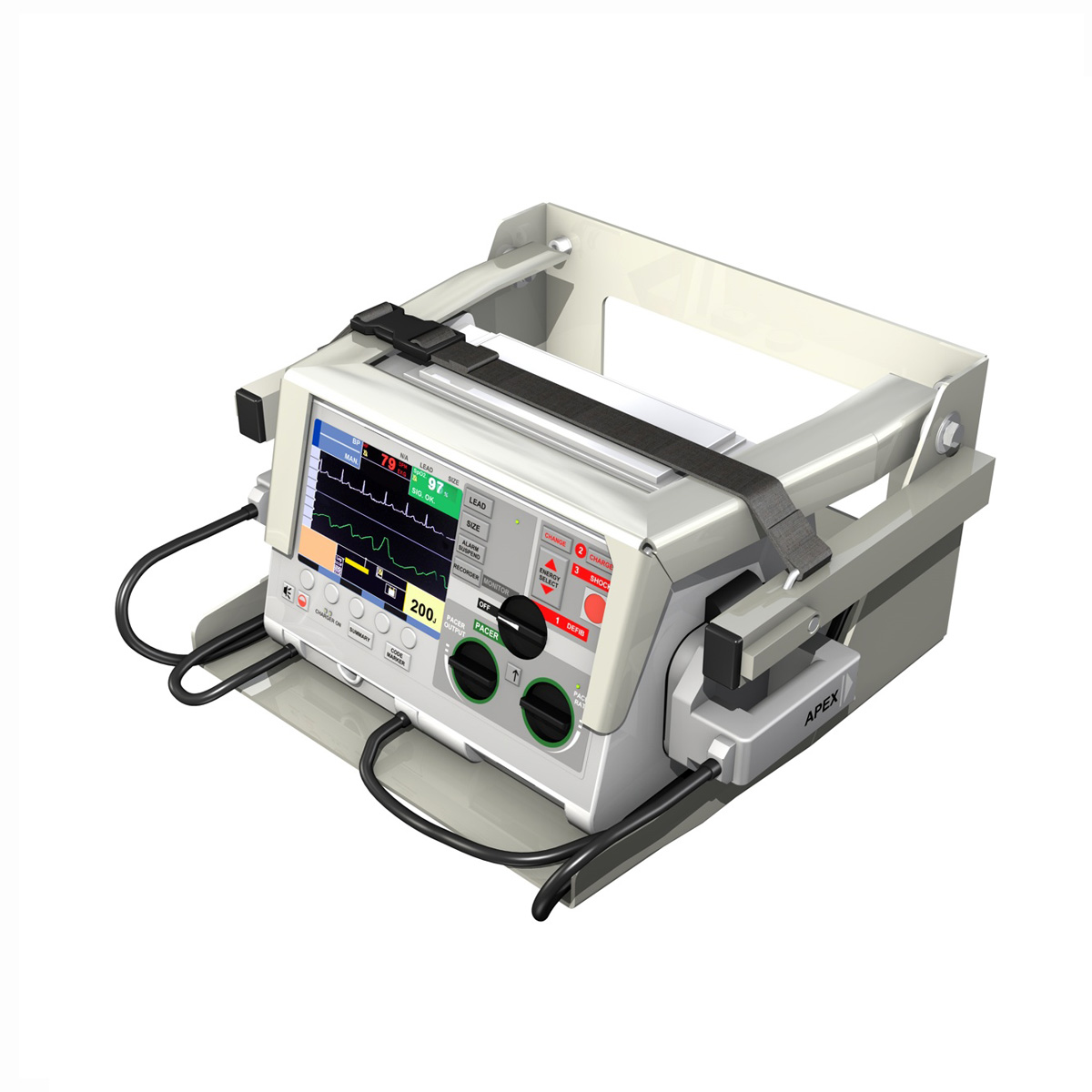 defibrillator 3d model 3ds c4d lwo obj 264209