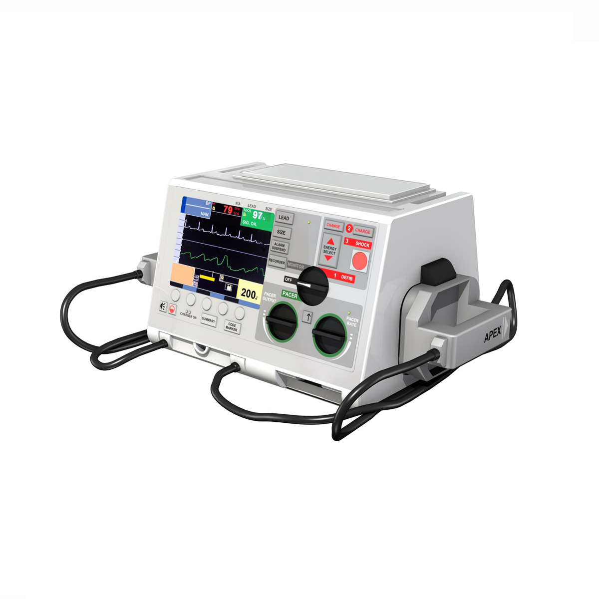 defibrillator 3d model 3ds c4d lwo obj 264214