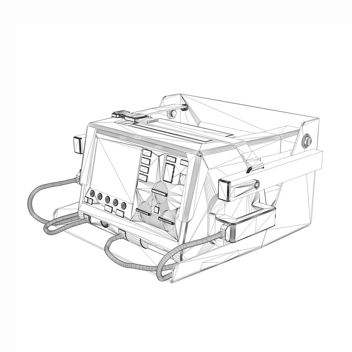 defibrillator 3d model 3ds c4d lwo obj 264216