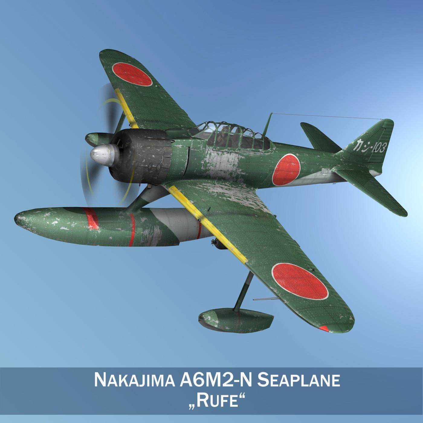 nakajima a6m2-n – rufe 3d model 3ds c4d lwo obj 264227