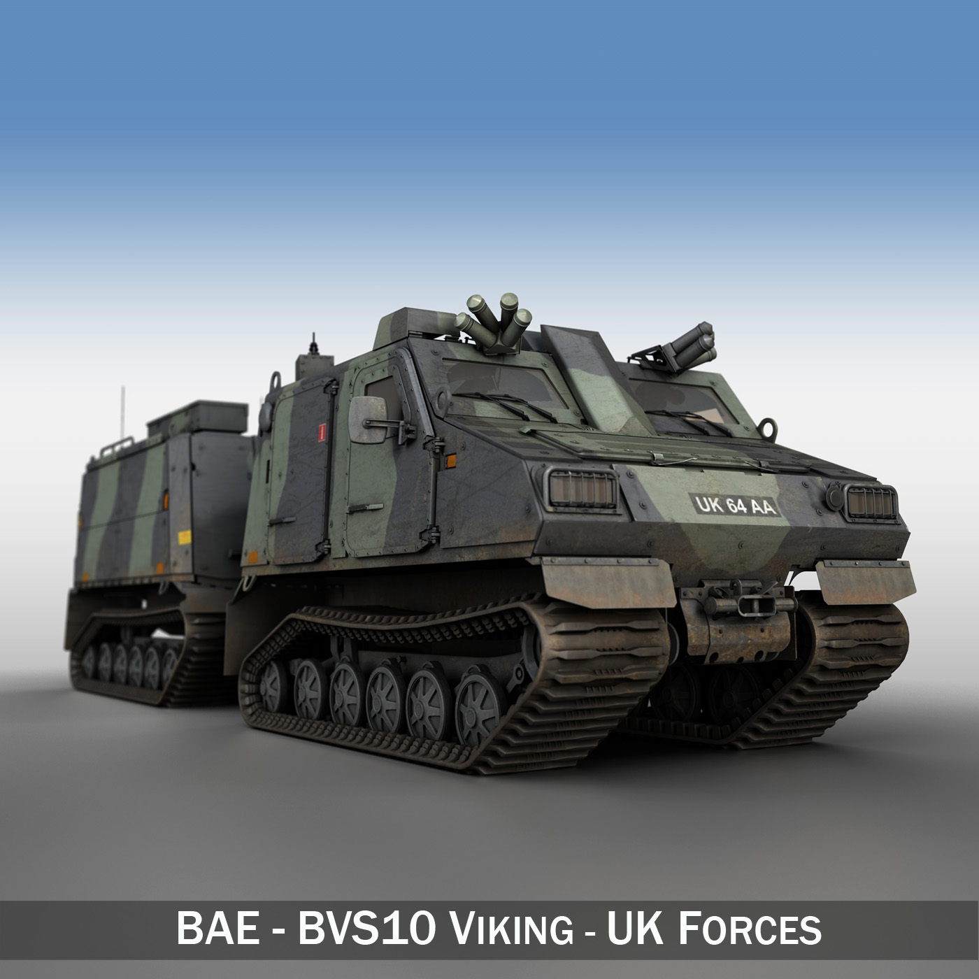 bvs10 viking - uk forces 3d model 3ds c4d texture obj 264249