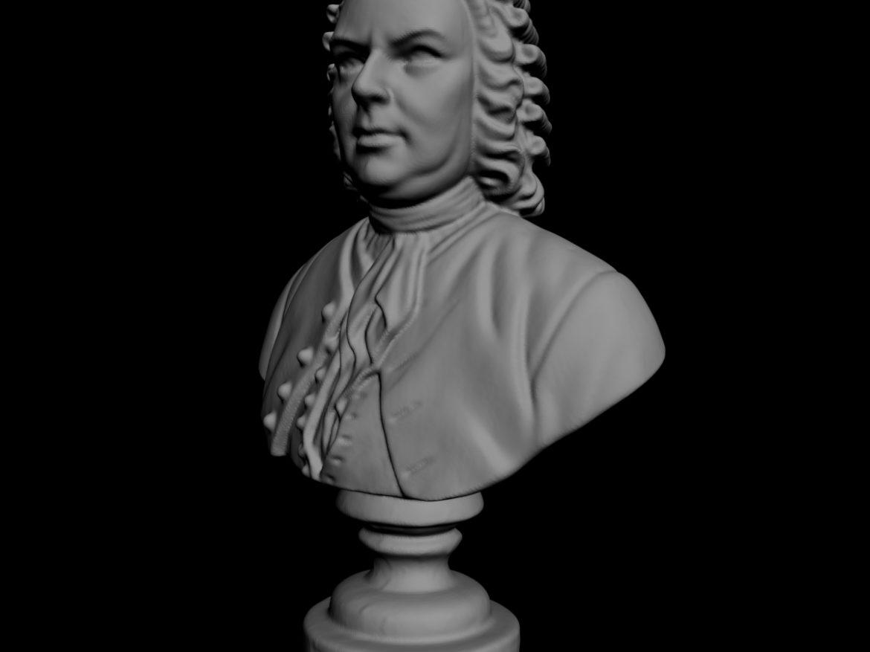 Johann Sebastian Bach Bust 3d model 0