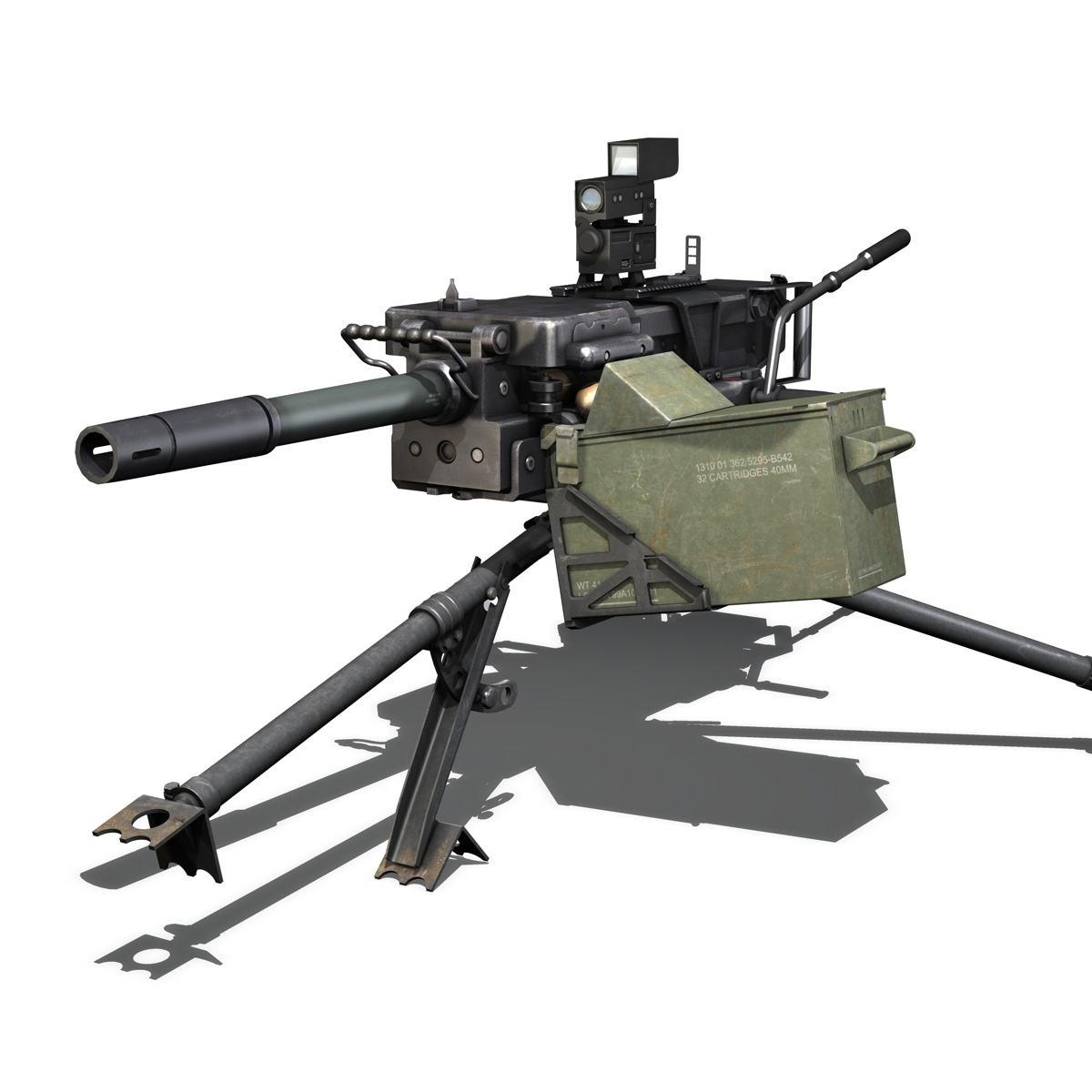 gmg 40mm grenade machine gun 3d model 3ds c4d lwo obj 264280