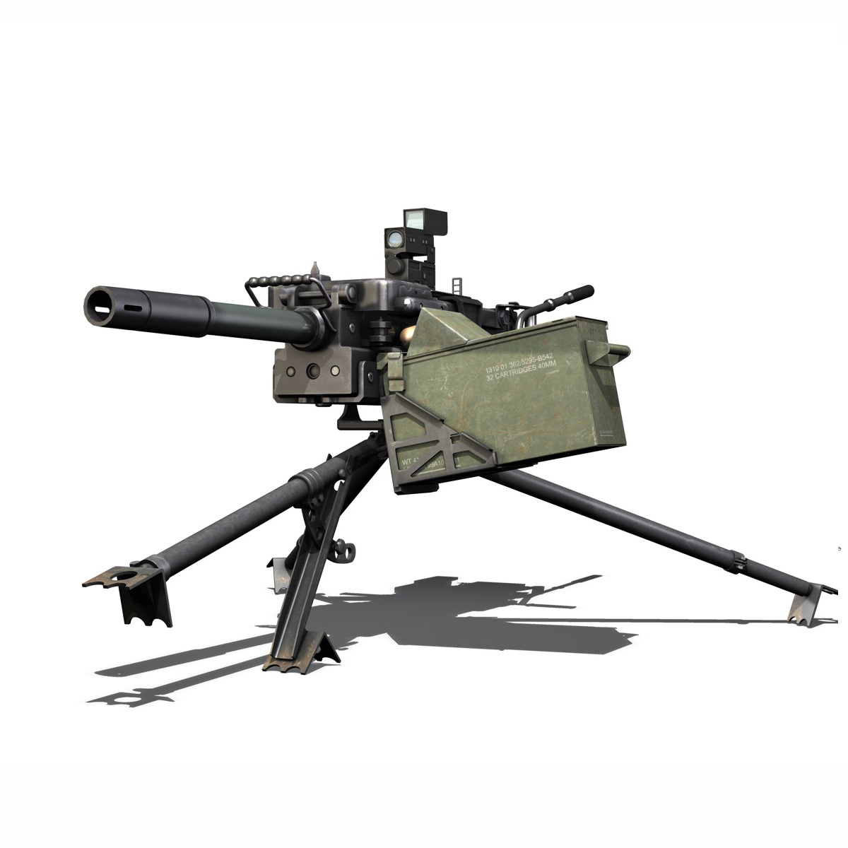 gmg 40mm grenade machine gun 3d model 3ds c4d lwo obj 264281