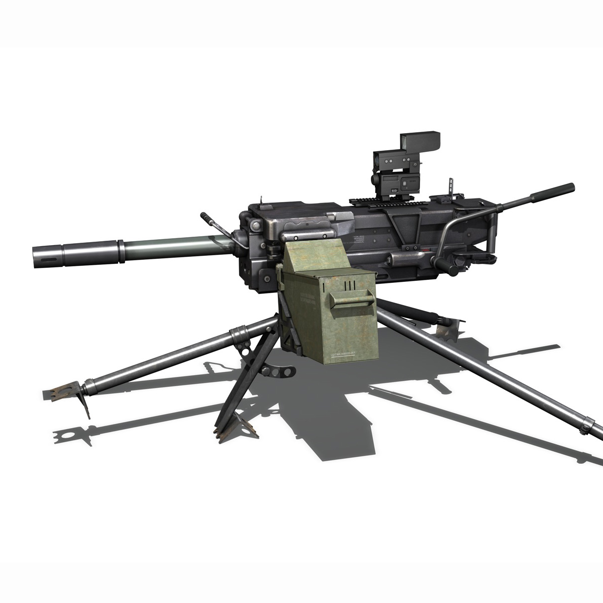 gmg 40mm grenade machine gun 3d model 3ds c4d lwo obj 264286