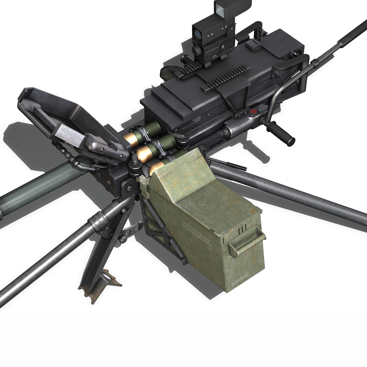 gmg 40mm grenade machine gun 3d model 3ds c4d lwo obj 264287