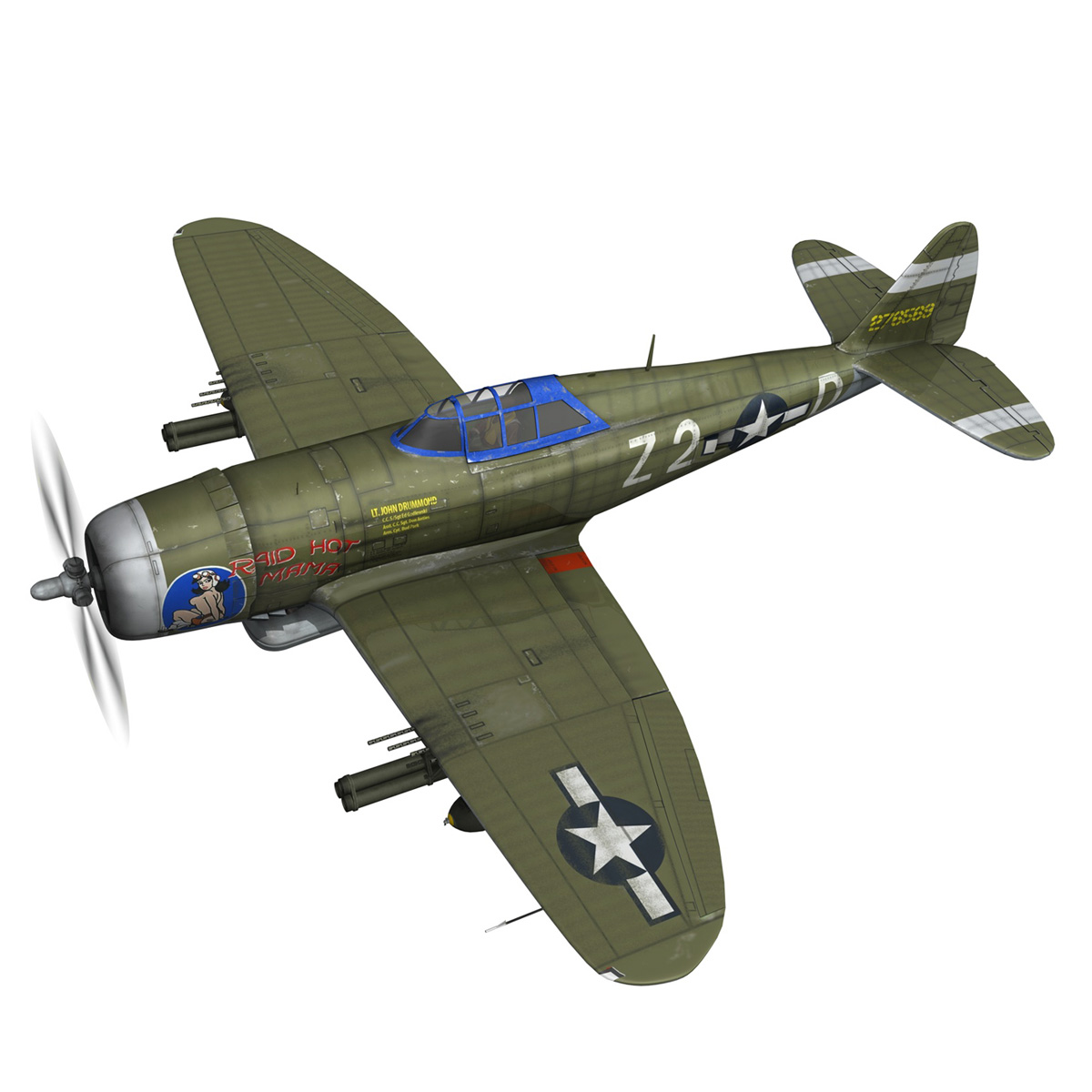 republic p-47d thunderbolt – raid hot mama 3d model 3ds c4d lwo obj 264313