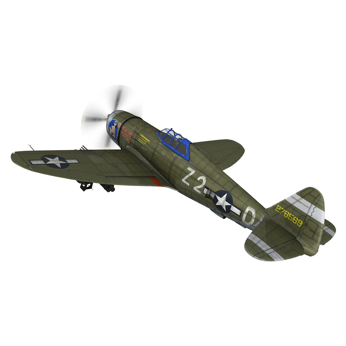 republic p-47d thunderbolt – raid hot mama 3d model 3ds c4d lwo obj 264314