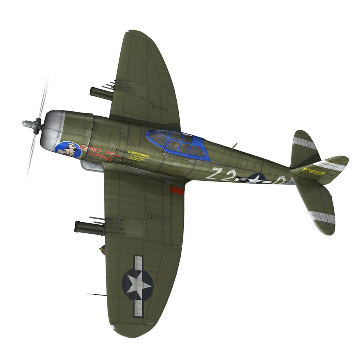 republic p-47d thunderbolt – raid hot mama 3d model 3ds c4d lwo obj 264315