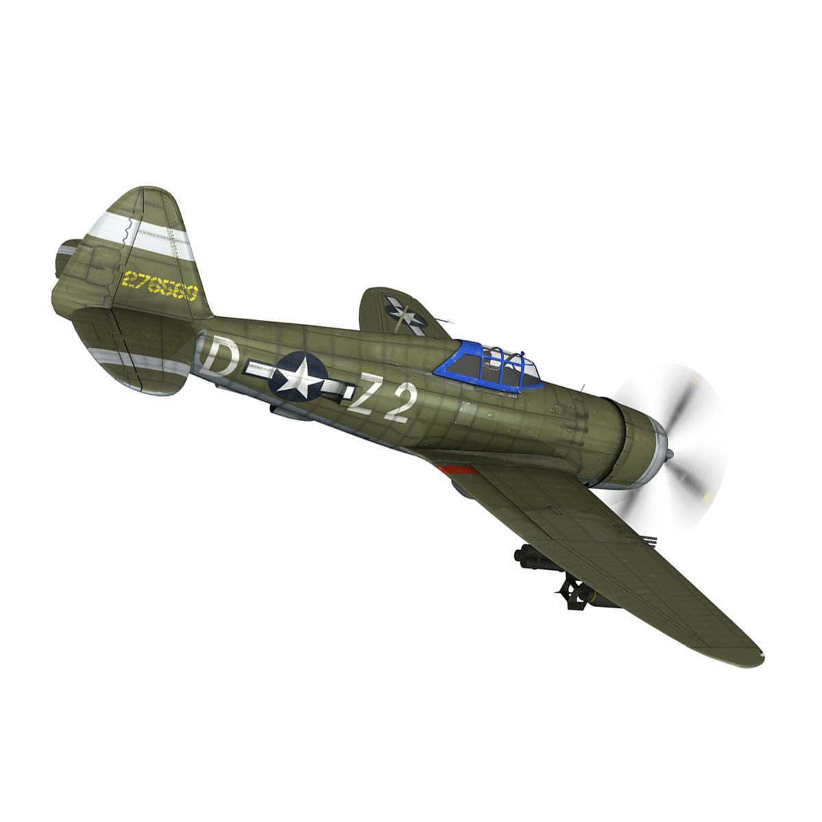 republic p-47d thunderbolt – raid hot mama 3d model 3ds c4d lwo obj 264316