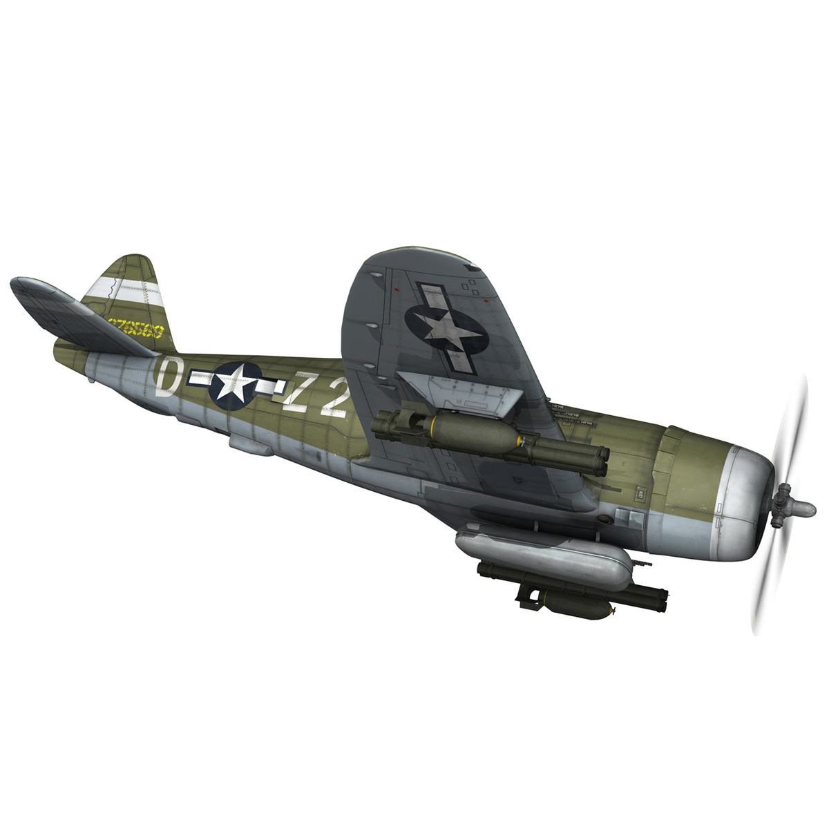 republic p-47d thunderbolt – raid hot mama 3d model 3ds c4d lwo obj 264317