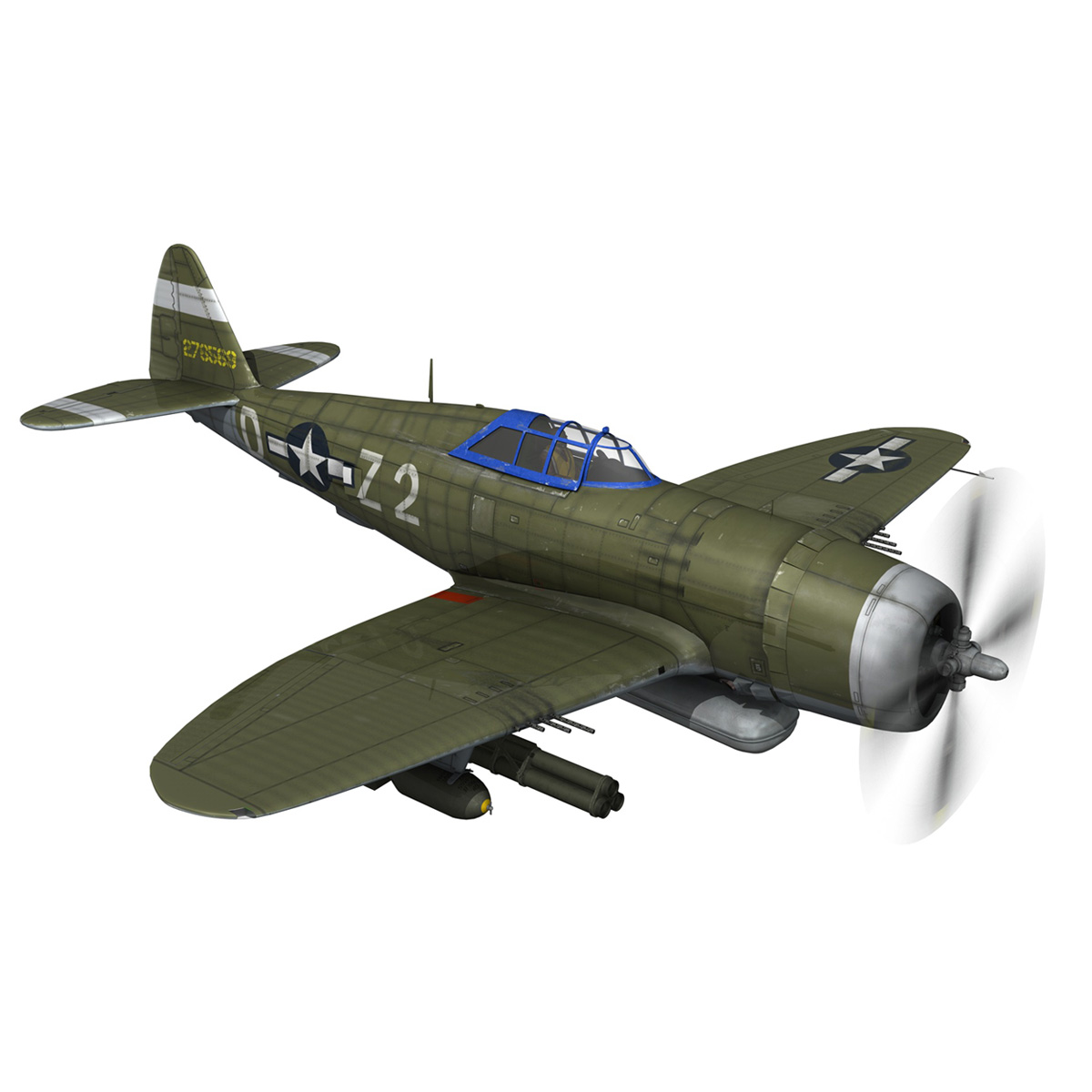 republic p-47d thunderbolt – raid hot mama 3d model 3ds c4d lwo obj 264318