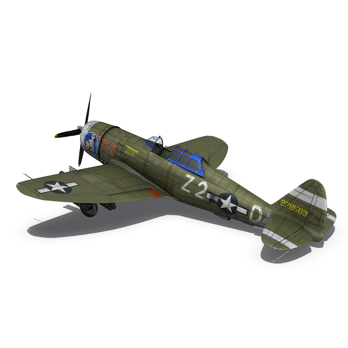 republic p-47d thunderbolt – raid hot mama 3d model 3ds c4d lwo obj 264321