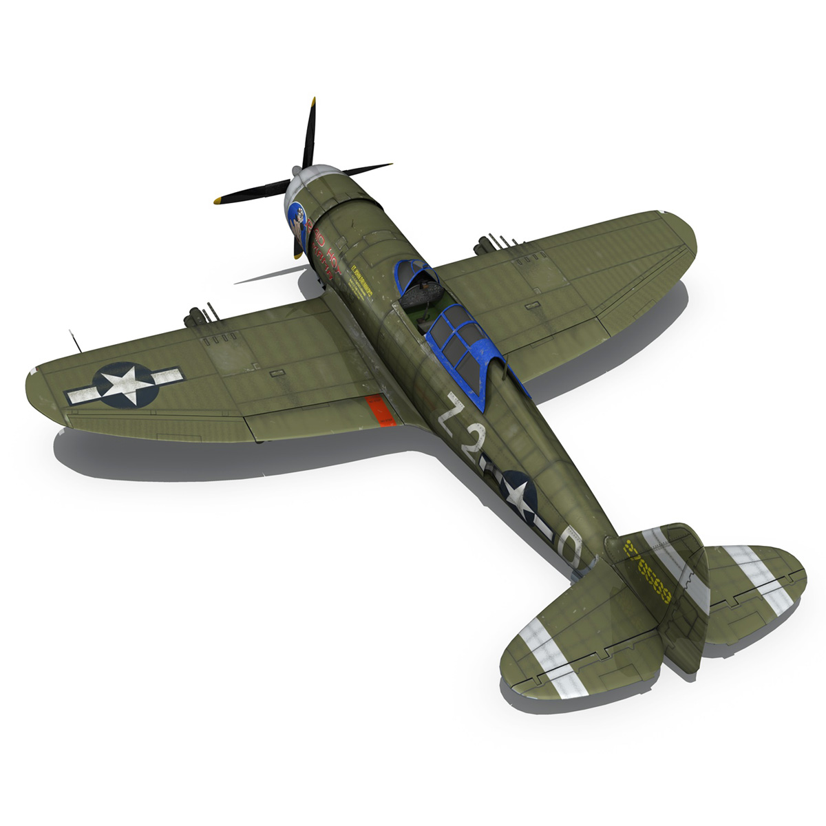 republic p-47d thunderbolt – raid hot mama 3d model 3ds c4d lwo obj 264322