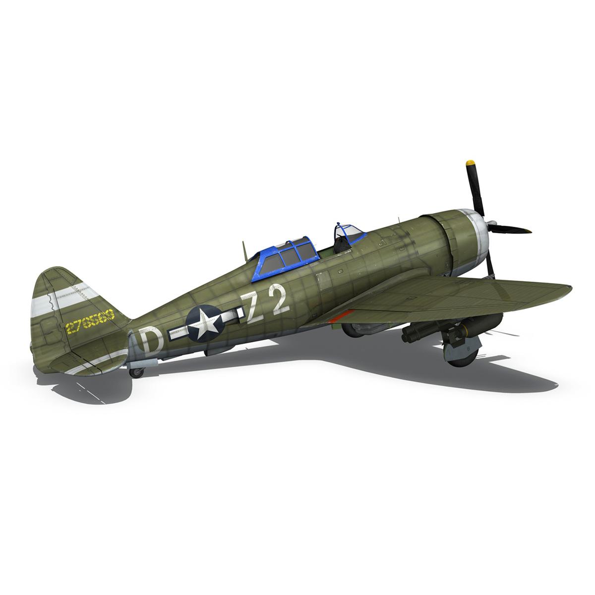 republic p-47d thunderbolt – raid hot mama 3d model 3ds c4d lwo obj 264323