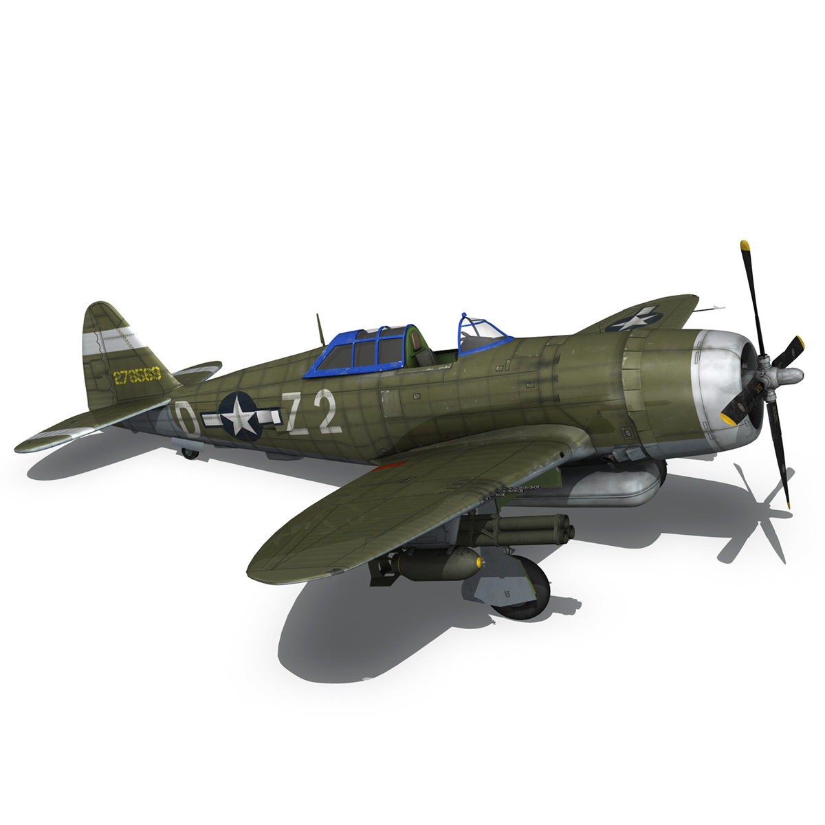 republic p-47d thunderbolt – raid hot mama 3d model 3ds c4d lwo obj 264324