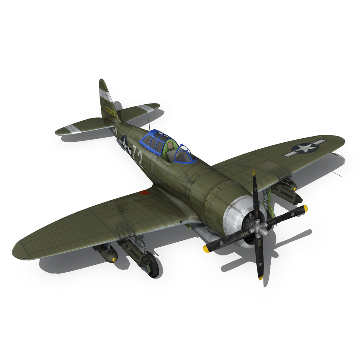 republic p-47d thunderbolt – raid hot mama 3d model 3ds c4d lwo obj 264325
