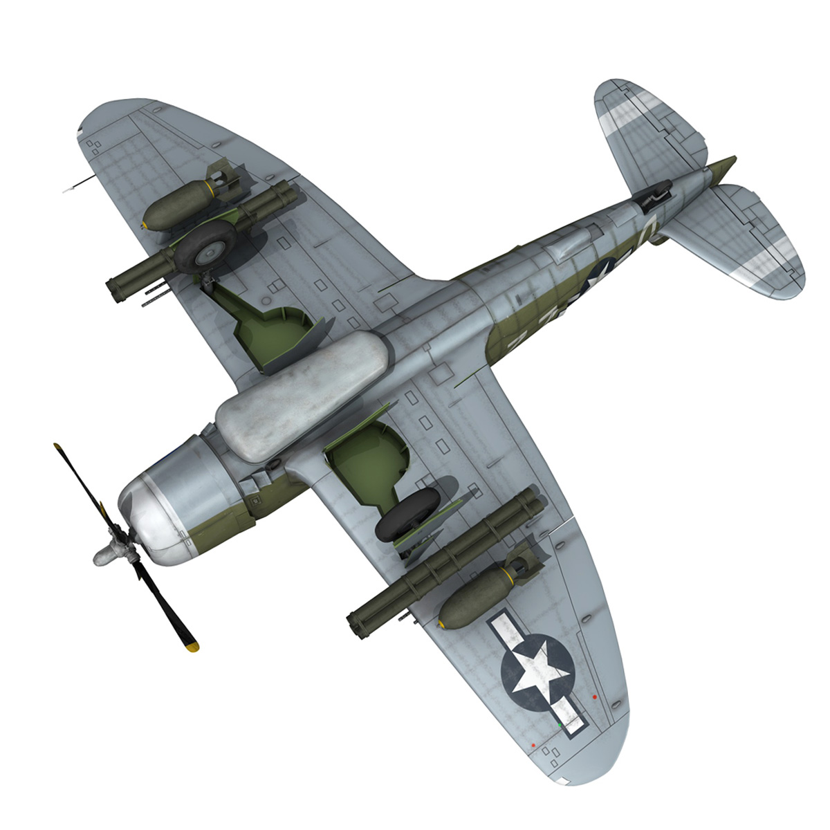 republic p-47d thunderbolt – raid hot mama 3d model 3ds c4d lwo obj 264327