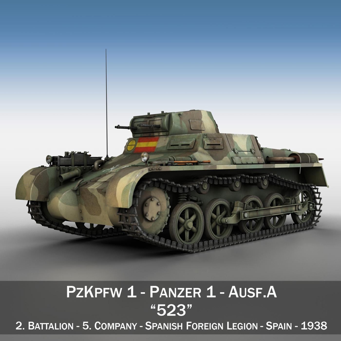 pzkpfw 1 – panzer 1 – ausf. a – 523 3d model 3ds c4d lwo obj 264386
