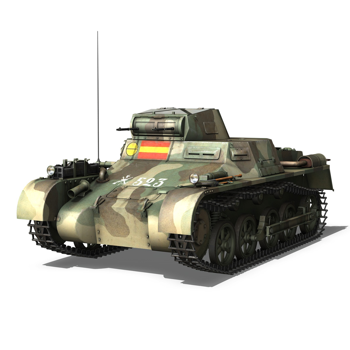 pzkpfw 1 – panzer 1 – ausf. a – 523 3d model 3ds c4d lwo obj 264387