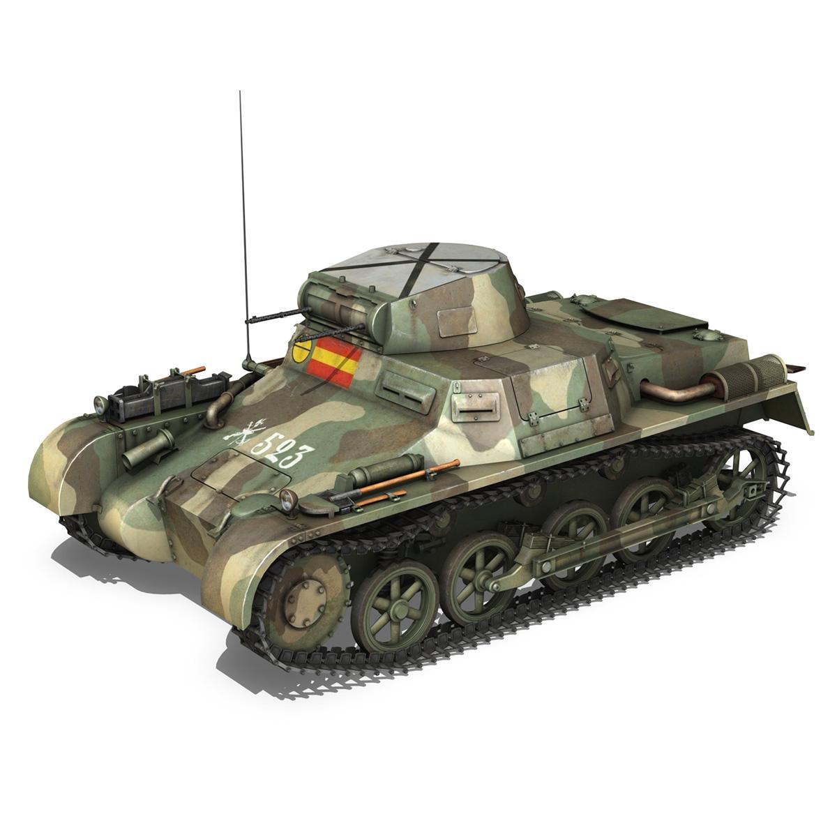 pzkpfw 1 – panzer 1 – ausf. a – 523 3d model 3ds c4d lwo obj 264388