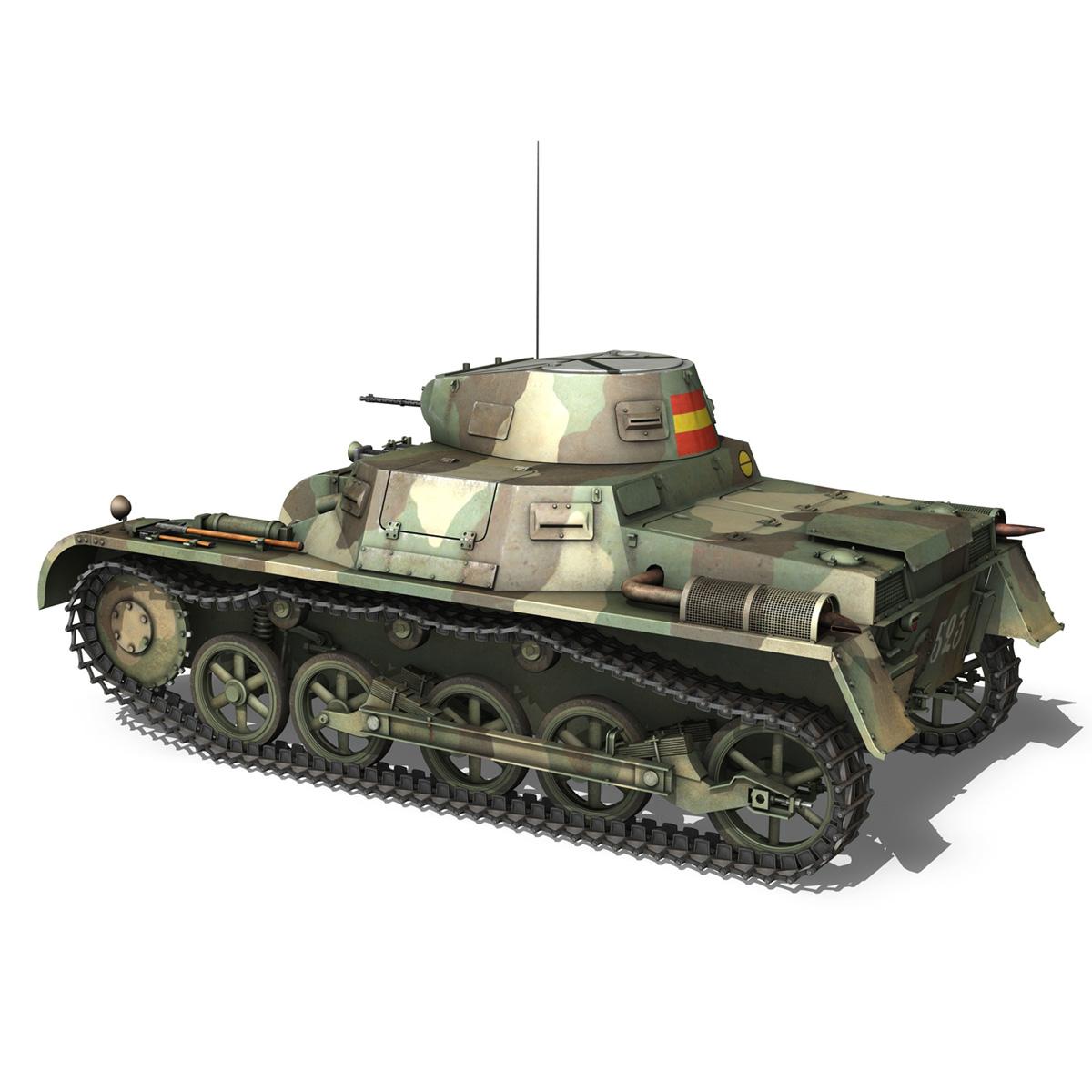 pzkpfw 1 – panzer 1 – ausf. a – 523 3d model 3ds c4d lwo obj 264389