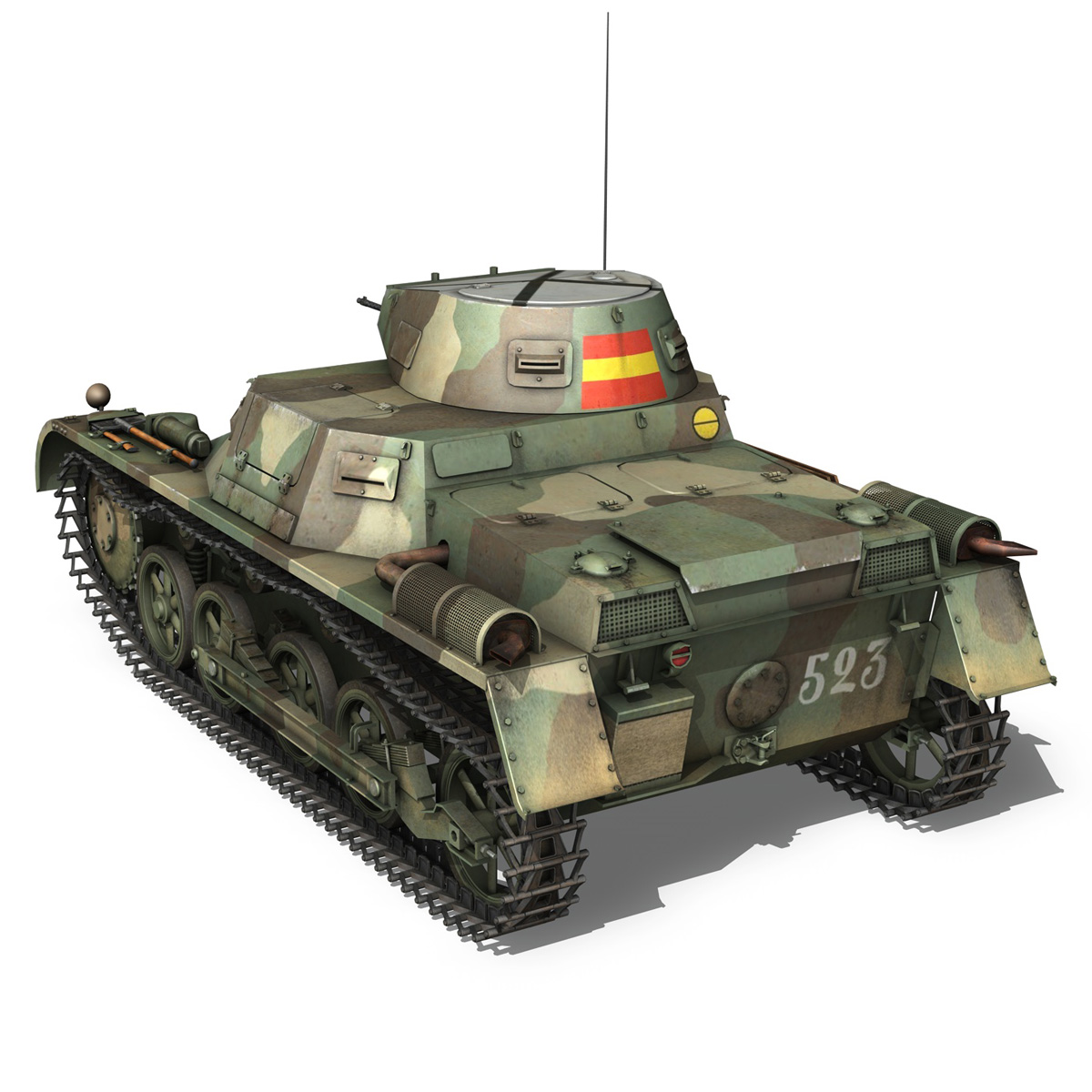 pzkpfw 1 – panzer 1 – ausf. a – 523 3d model 3ds c4d lwo obj 264390