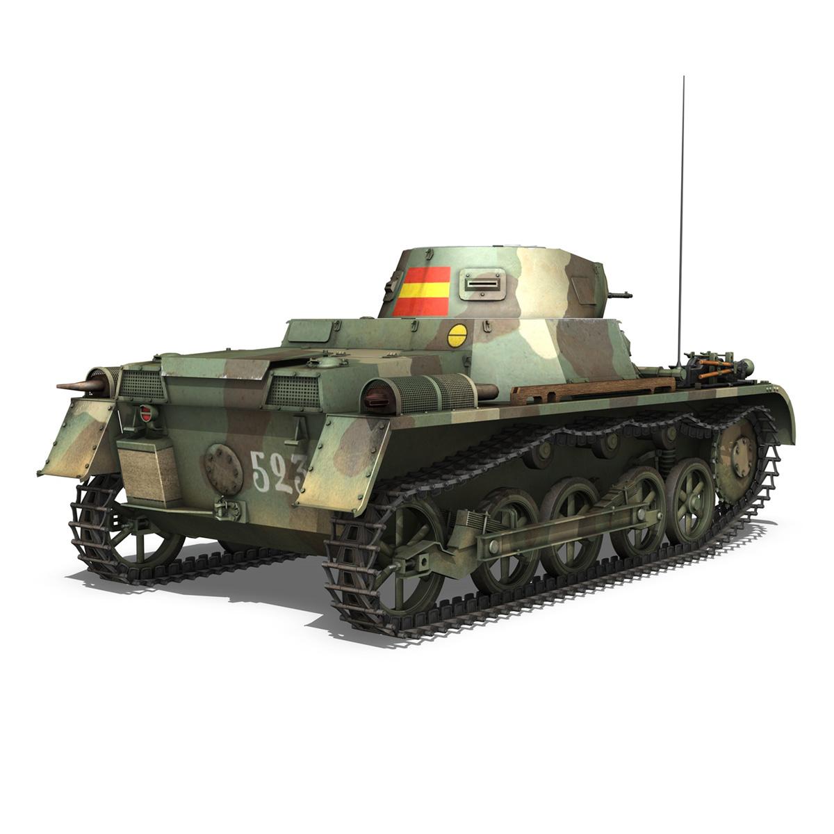 pzkpfw 1 – panzer 1 – ausf. a – 523 3d model 3ds c4d lwo obj 264391