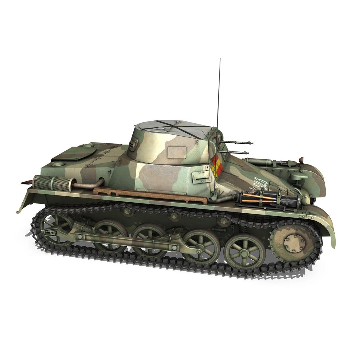 pzkpfw 1 – panzer 1 – ausf. a – 523 3d model 3ds c4d lwo obj 264392