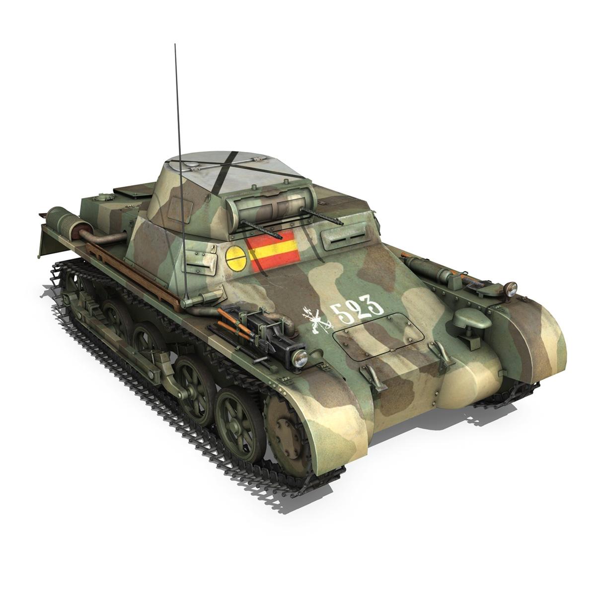 pzkpfw 1 – panzer 1 – ausf. a – 523 3d model 3ds c4d lwo obj 264393