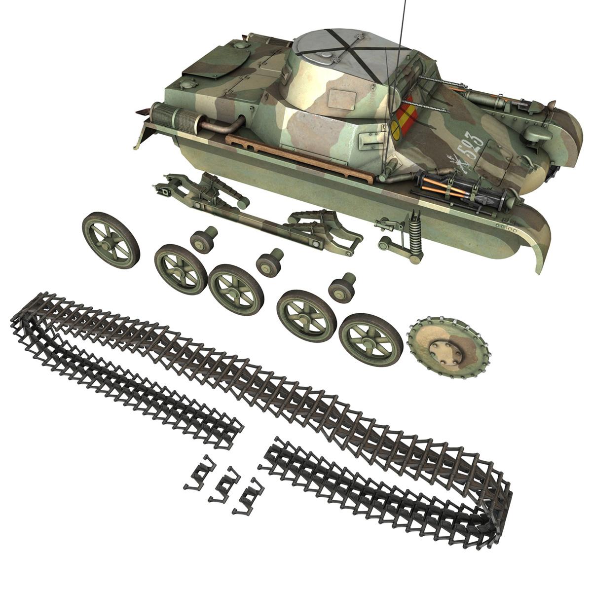pzkpfw 1 – panzer 1 – ausf. a – 523 3d model 3ds c4d lwo obj 264394