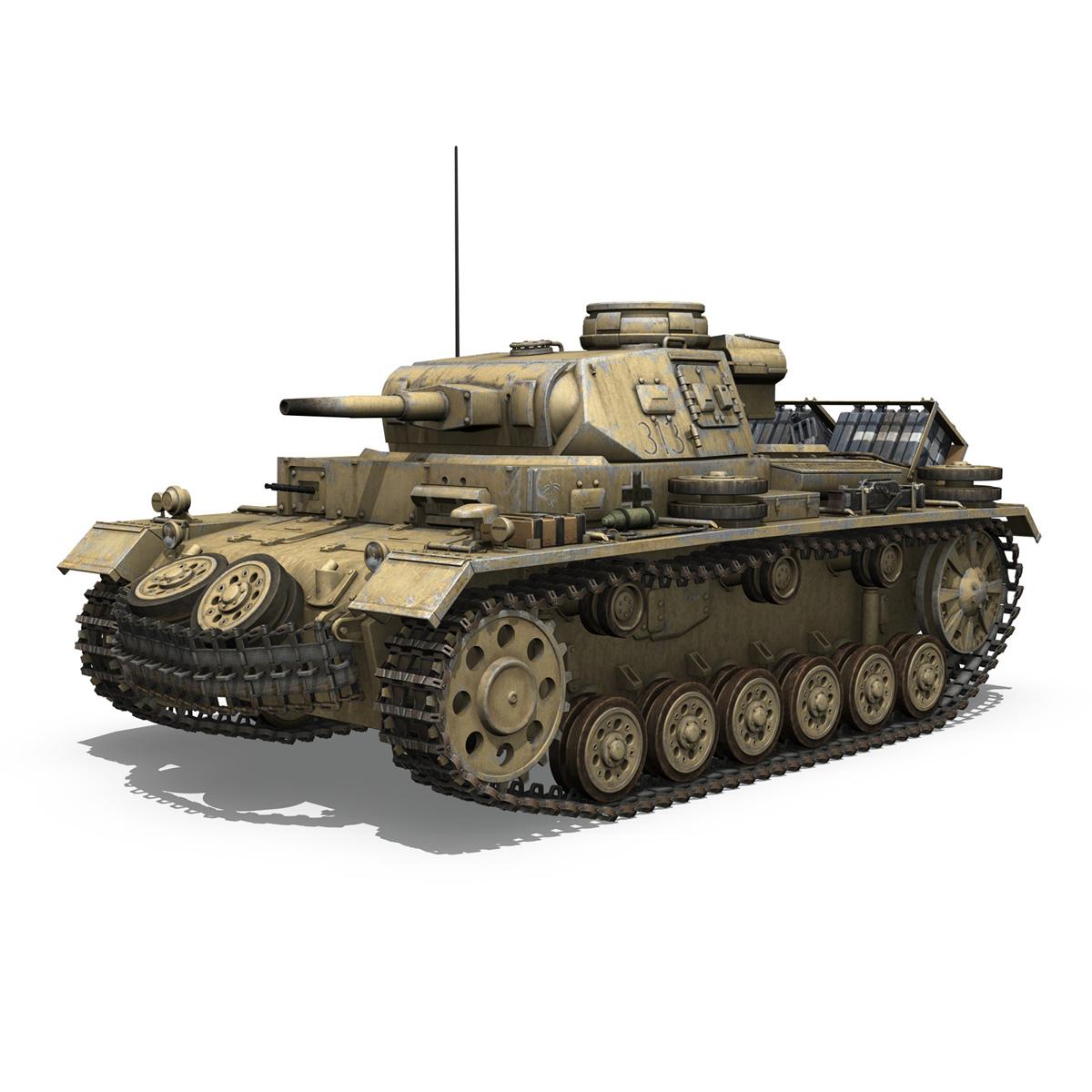 panzer iii – pzkpfw iii – ausf.g – dak – 313 3d model 3ds c4d lwo obj 264429
