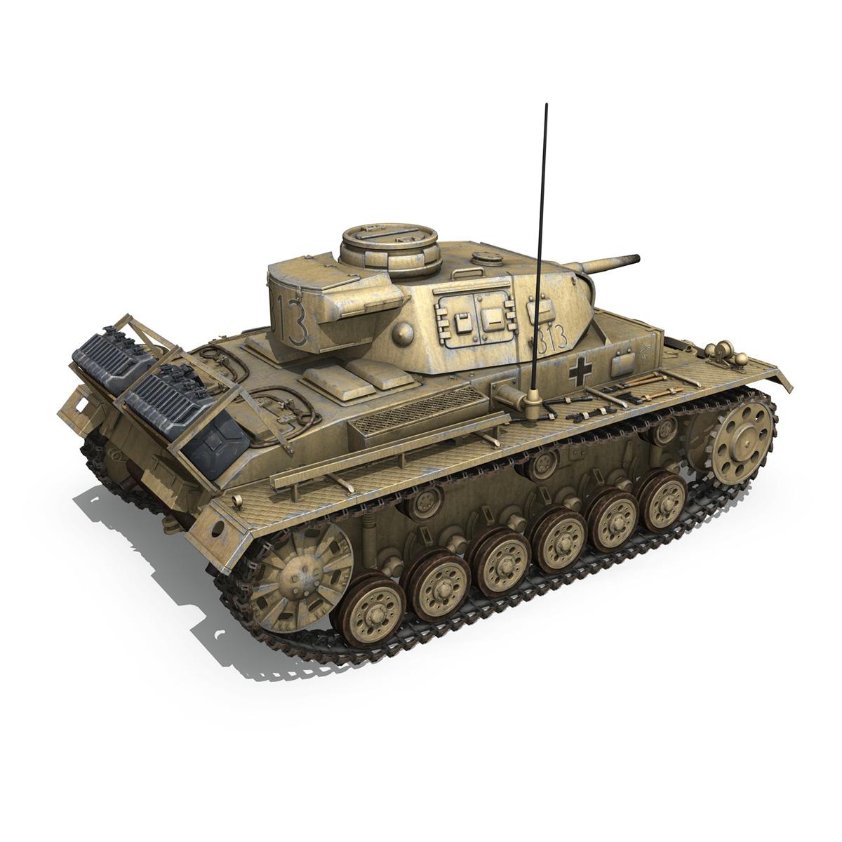 panzer iii – pzkpfw iii – ausf.g – dak – 313 3d model 3ds c4d lwo obj 264432