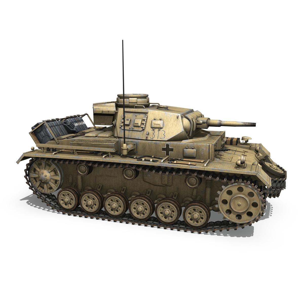 panzer iii – pzkpfw iii – ausf.g – dak – 313 3d model 3ds c4d lwo obj 264433