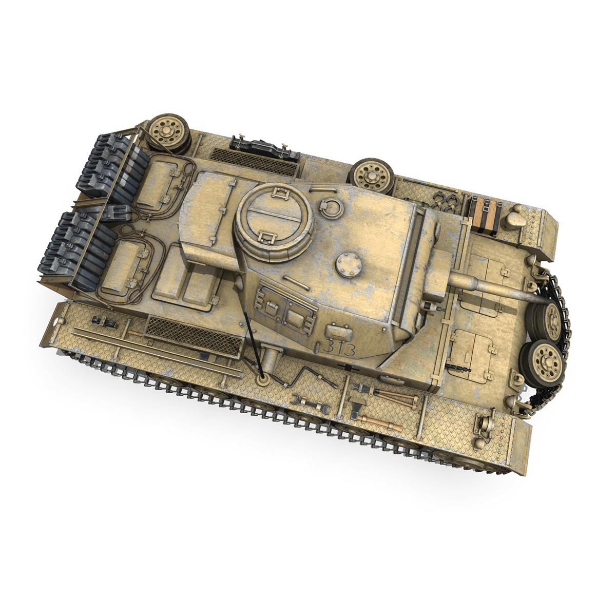 panzer iii – pzkpfw iii – ausf.g – dak – 313 3d model 3ds c4d lwo obj 264435