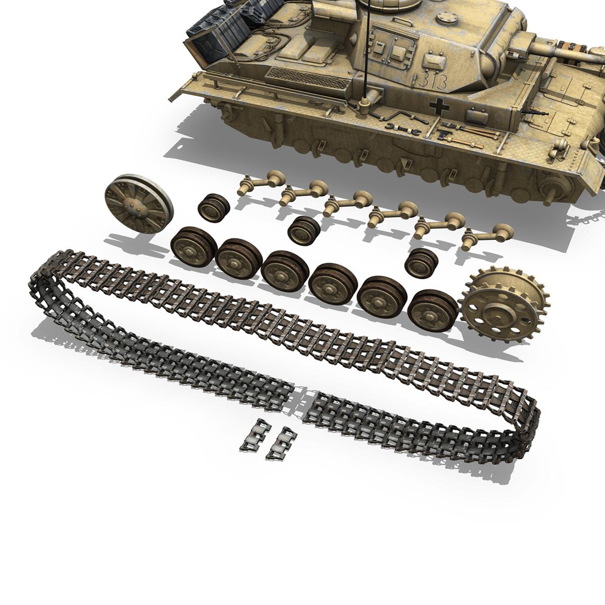panzer iii – pzkpfw iii – ausf.g – dak – 313 3d model 3ds c4d lwo obj 264436