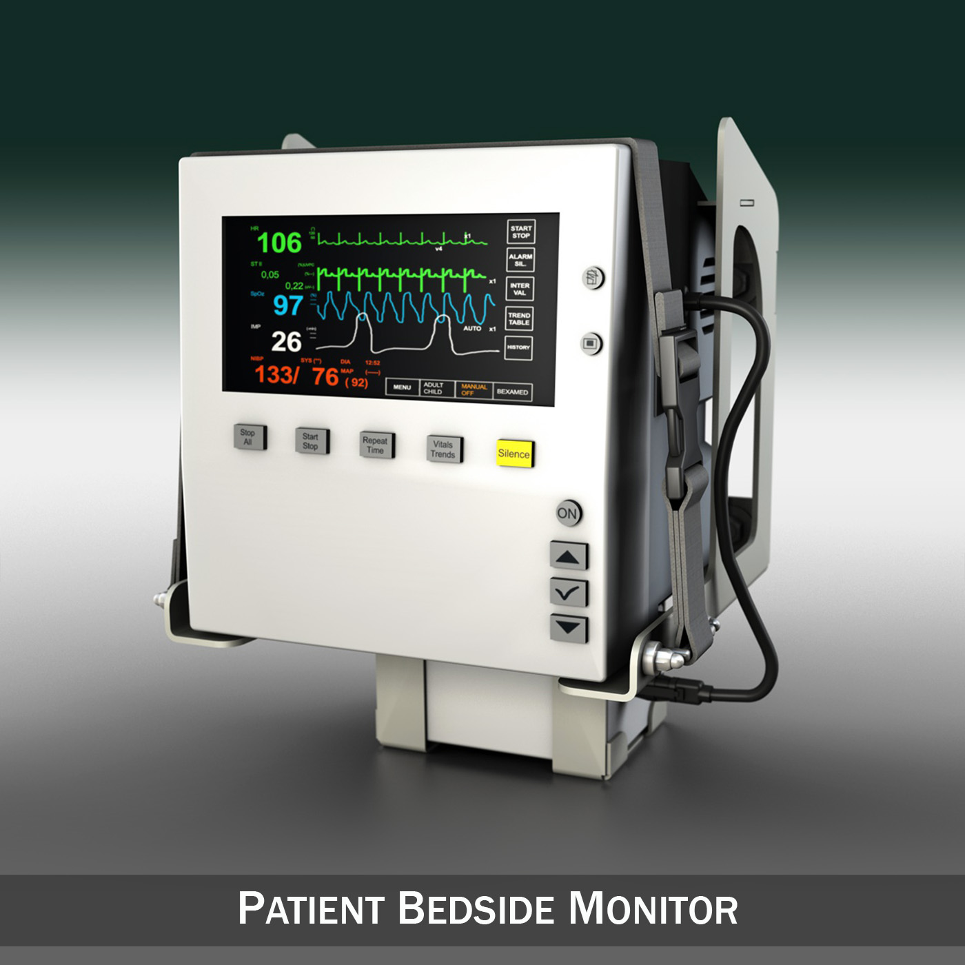 patient monitor 3d model 3ds c4d lwo obj 264444
