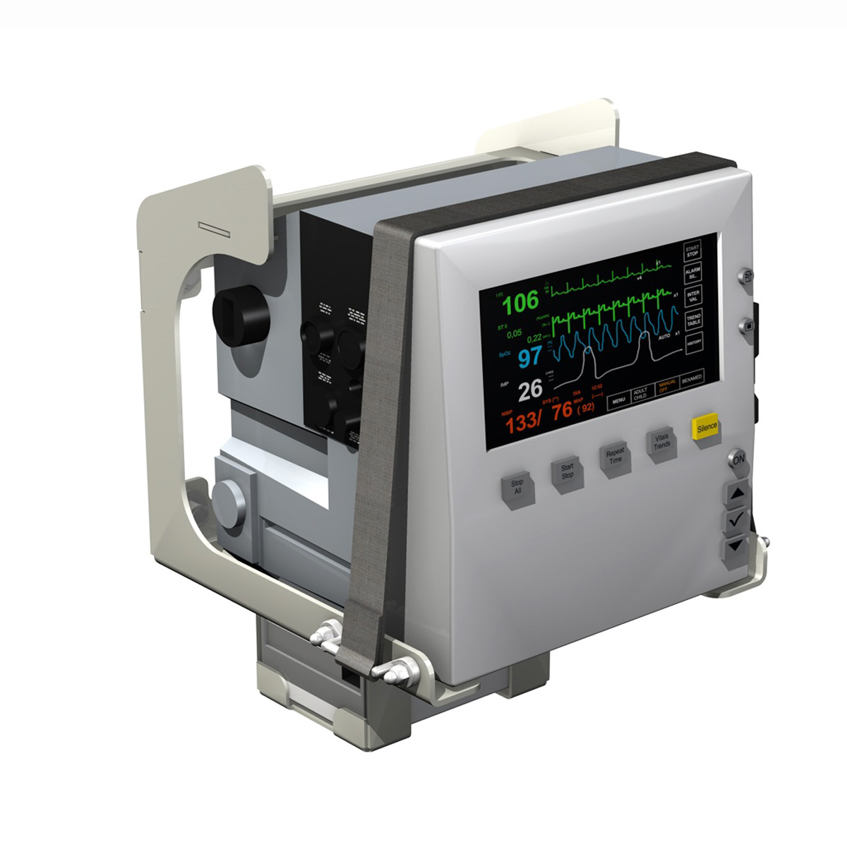 Monitor i pacientit 3d model 3ds c4d lwo obj 264448