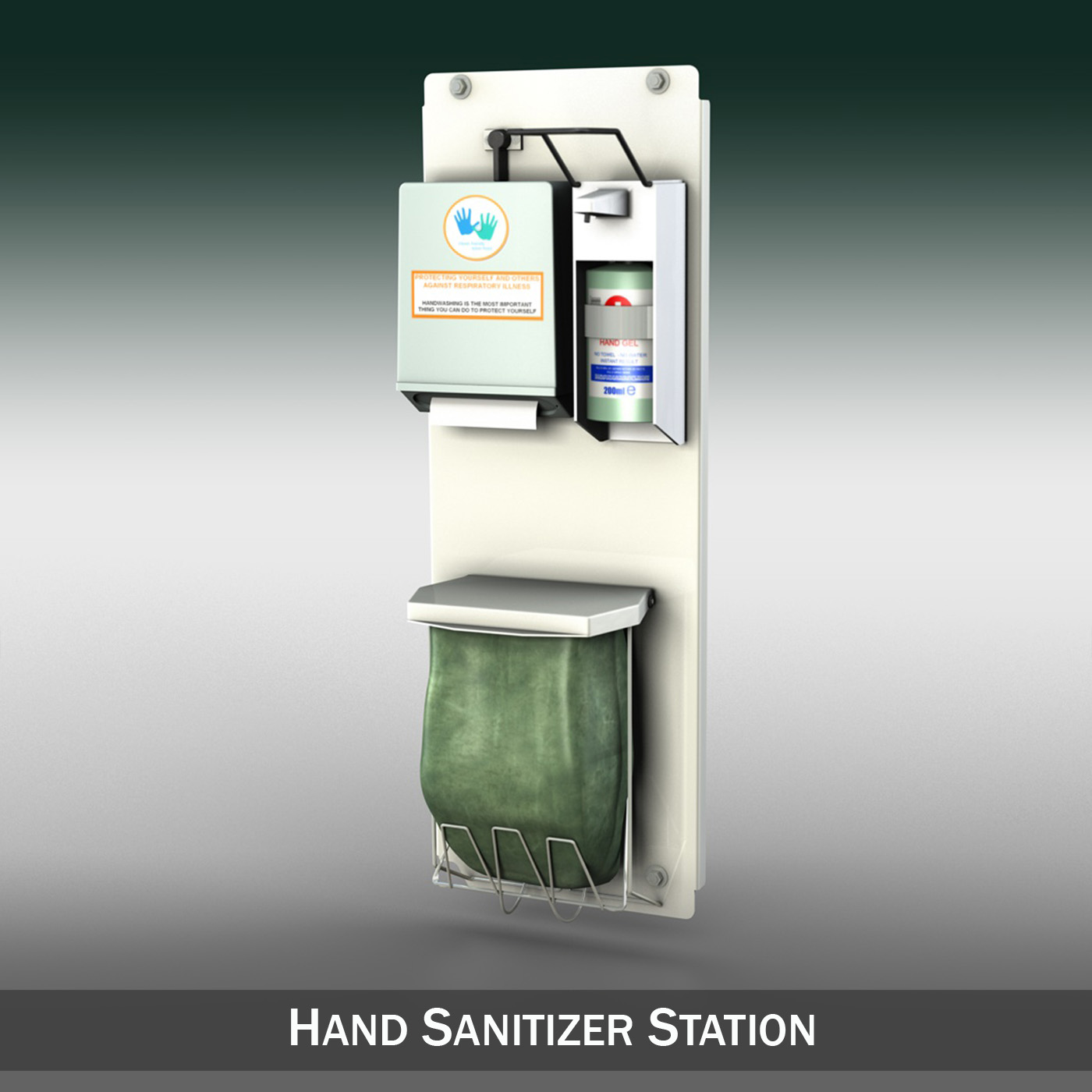 hand sanitizer station 3d model 3ds c4d lwo obj 264458