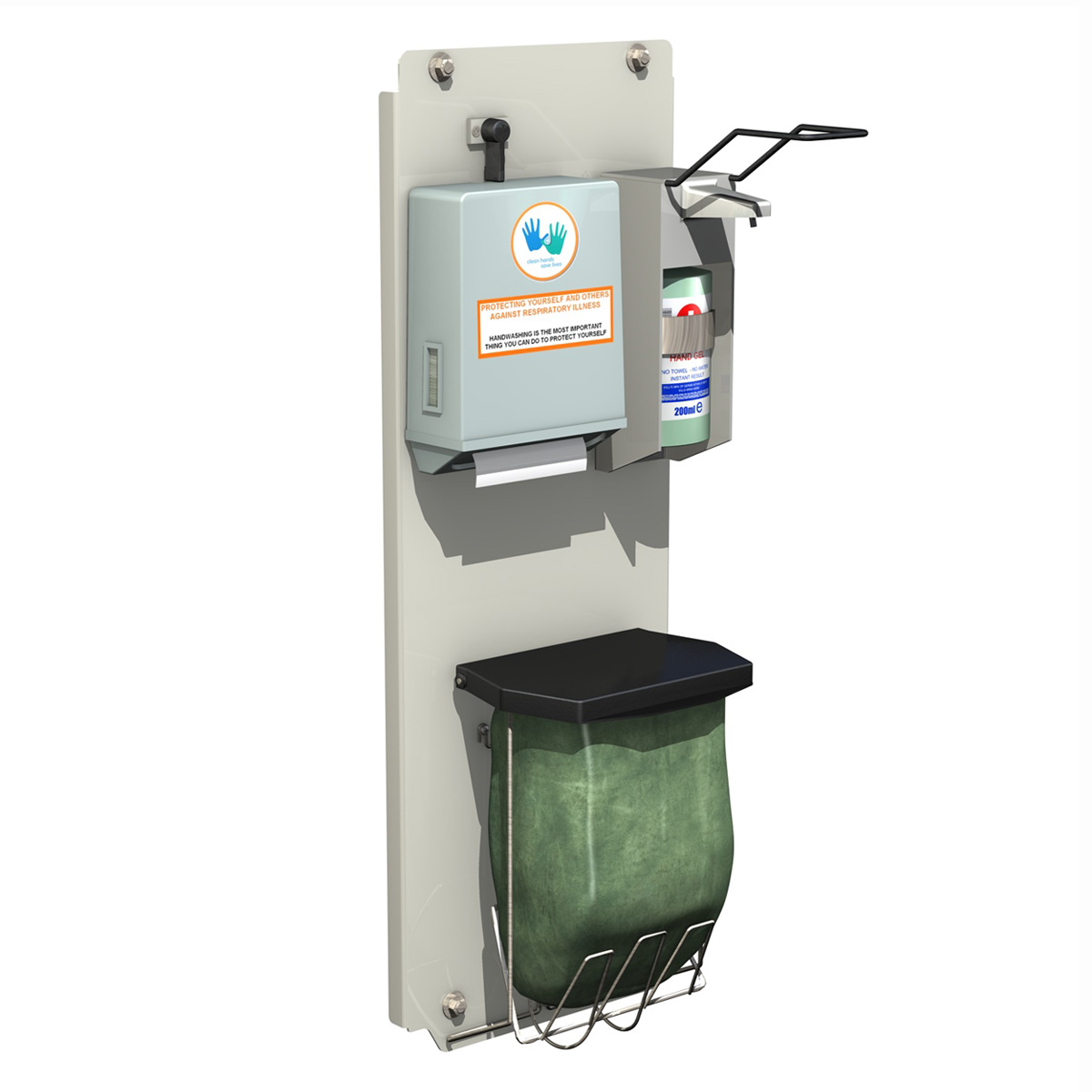hand sanitizer station 3d model 3ds c4d lwo obj 264459