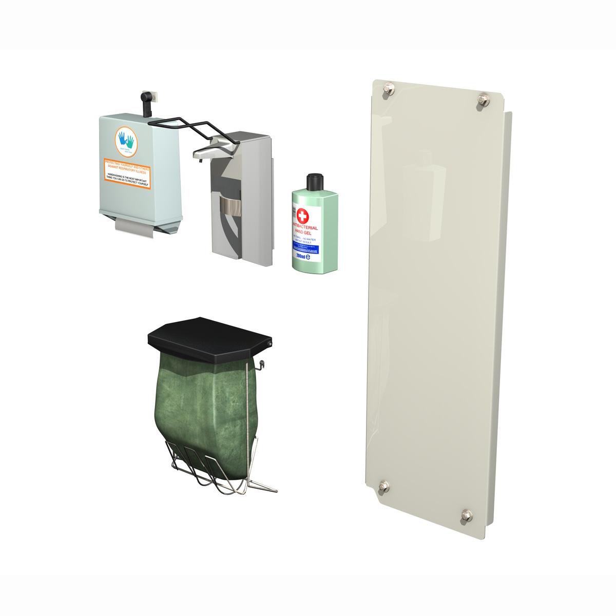 hand sanitizer station 3d model 3ds c4d lwo obj 264462