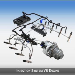 Injection System of a V8 engine 3d model 3ds c4d lwo lws lw obj