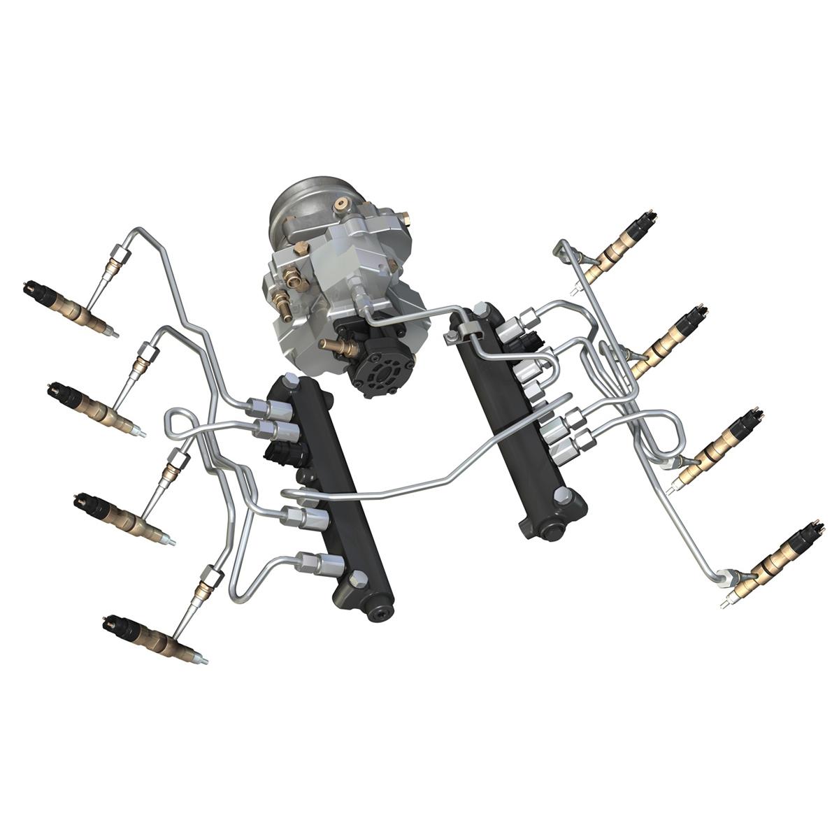 injection system of a v8 engine 3d model 3ds c4d lwo obj 264476