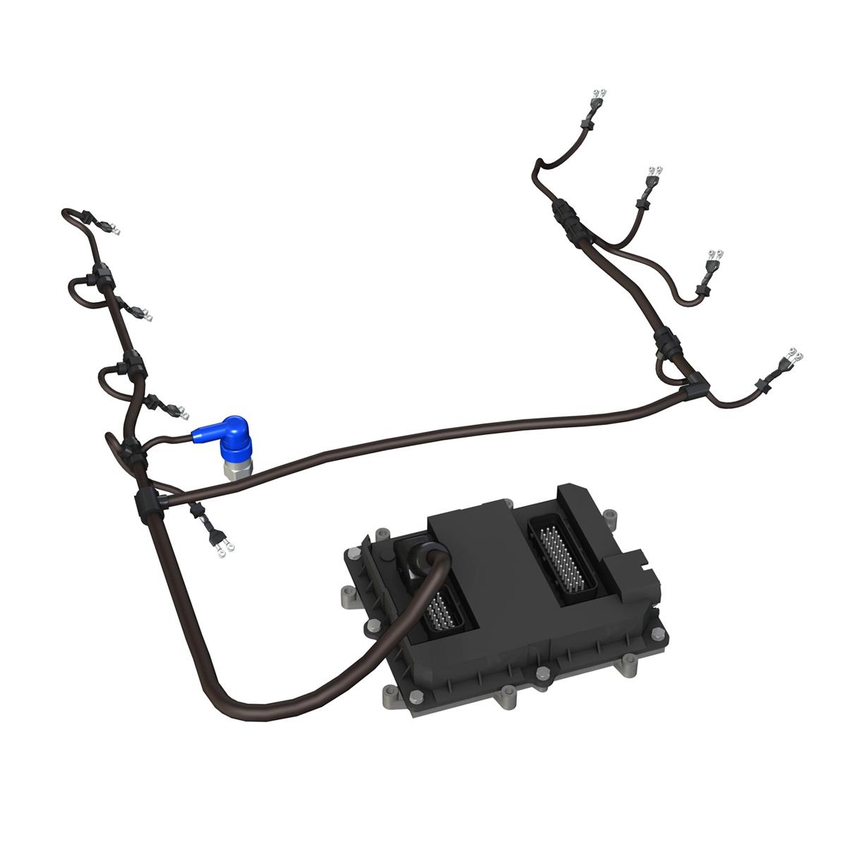 injection system of a v8 engine 3d model 3ds c4d lwo obj 264478