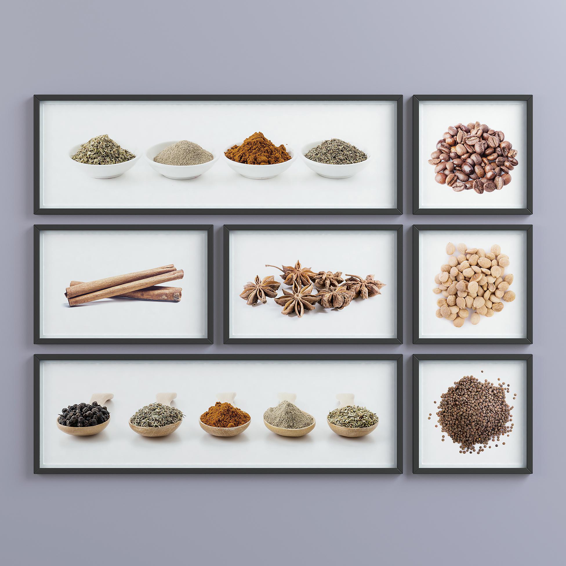 Picture Frames Set -1 3d model  264559